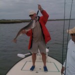 Redfish pose