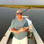 Baby redfish, big fight