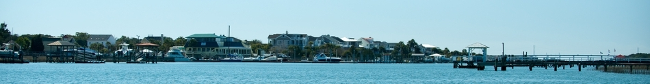 A nice view of the Isle of Palms from the intracoastal waterway